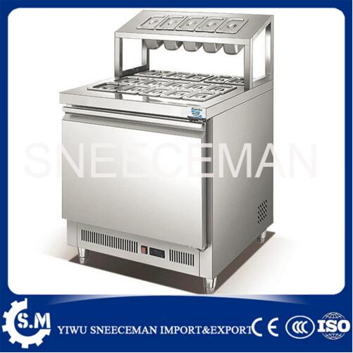 Stainless Steel Cold Storeage Working Bench Counter Worktable Machine Cheese Pizza Salad Cabinet Machine