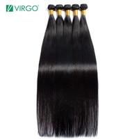 Virgo Hair 30 32 34 36 38 40 Inch Bundles Straight Peruvian Human Hair Weave Bundles Long Remy Hair Extensions 3 4 PC Hair Weft
