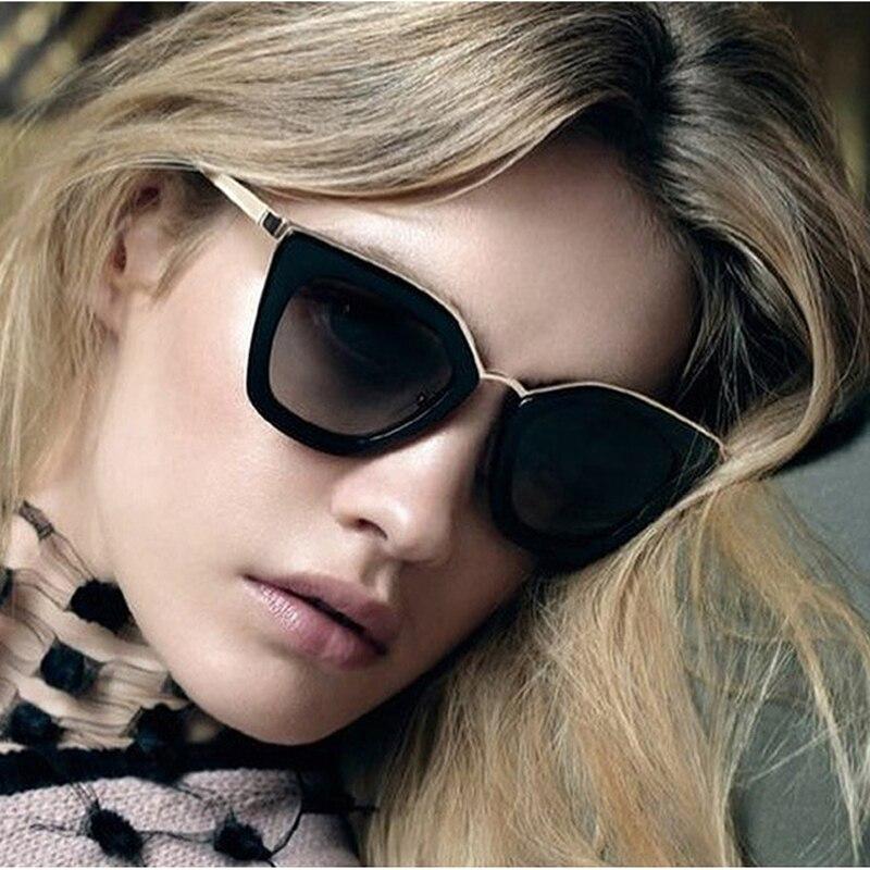 FEISHINI პლასტიკური ცნობილი სახეების ძვირადღირებული სათვალე ქალები კატის თვალის რთველი სარკე Superstar ხარისხის აქსესუარები HD სათვალეები ქალბატონების ბრენდი