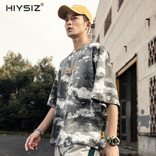 HIYSIZ NEW T-Shirt 2019 Cotton Casual Streetwear Summer new Japanese popular logo short-sleeved O-Neck camouflage T-shirt ST274