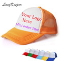 LongKeeper Unisex Hip-Hop Baseball Cap Golf Hat Adjustable Trucker Mesh Blank Curved Visor Hat  Hats Logo Custom Made 10pcs/lot