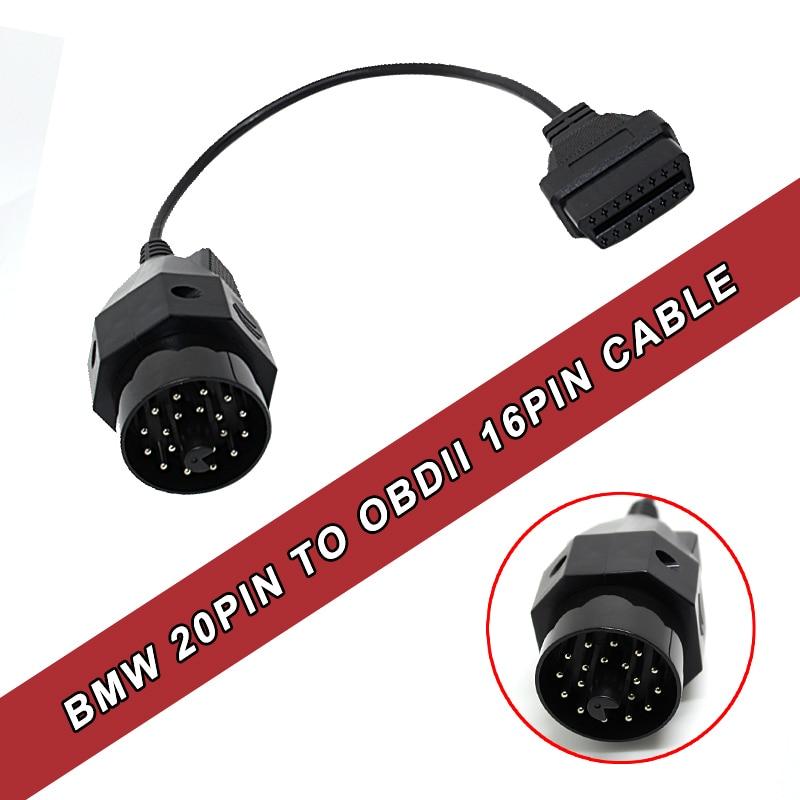 Prix pour OBD OBD II Adaptateur pour BMW 20 broches OBD2 16 BROCHES Femelle Connecteur e36 e39 X5 Z3 pour BMW 20pin