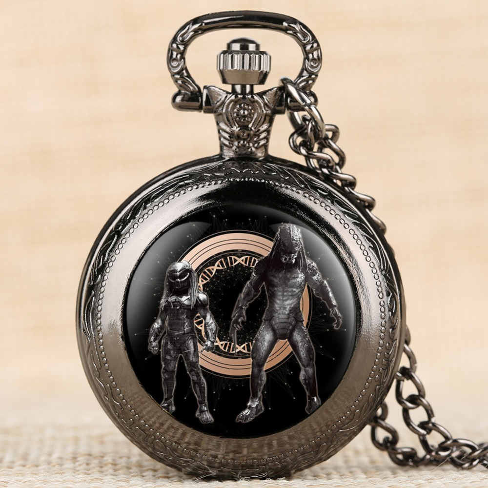 Fashion And Leisure Pocket Watch Quartz Sport Watches Men Alloy Case Iron-blooded Soldier Pattern Pocket Watch Arabic Numbers
