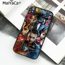 MaiYaCa High Quality Classic Phone Accessories  Marvel Superheroes The Avengers for iPhone X XS MAX 6 6S 7 7plus 8 8Plus 5 5S XR