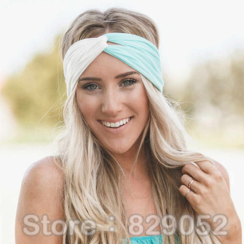 ... Twist Turban Headband for Women Bows Elastic Sport Hairbands Head Band  Yoga Headbands Headwear Headwrap Girls ... 2cb536d5f344