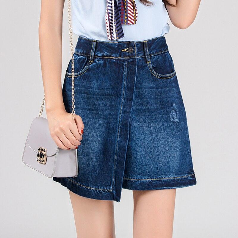 Benevolent Monkey Korean version red selvedge denim skirt slim women fashion funky styles jeans