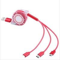 Выдвижной usb-кабель Baseus 3 в 1 для быстрой зарядки Max XR Xs USB type C для samsung S8 S9Plus Micro-usb Data Line-9157