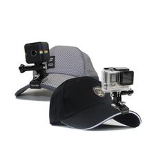 Telesin ротари рюкзак клип hat клип горе зажим с винтом для polaroid куб, gopro hero 4/3 +/3 sjcam go pro аксессуары