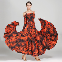 2019 Standard Ballroom Dance Dresses Ballroom Competition Dance Dress New Desigh Leopard Waltz Dancing Skirt Drag Queen DQS1261
