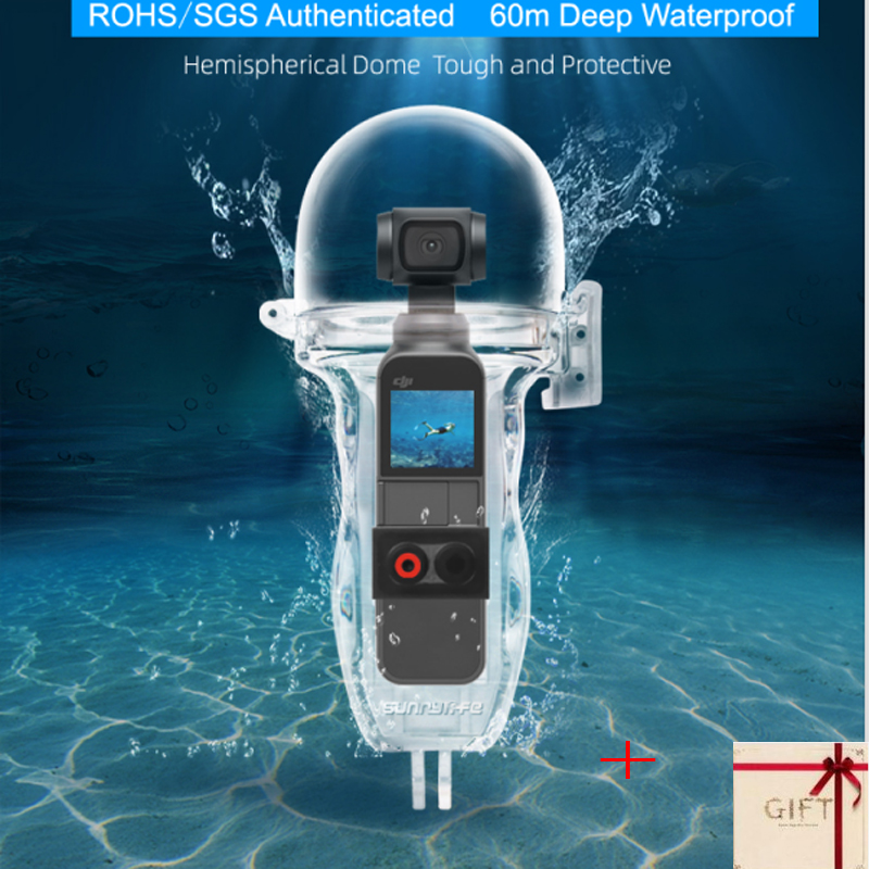 Diving Waterproof Case Housing 60 Meters for OSMO POCKET Camera Underwater Protection Shell Box Sports Accessories