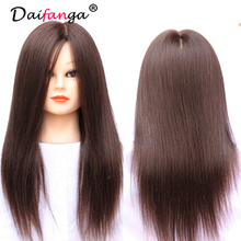 Free Shipping 50 Real Human Hair Cosmetology Hairdressing Doll Training Mannequin Head with Free Clamp On