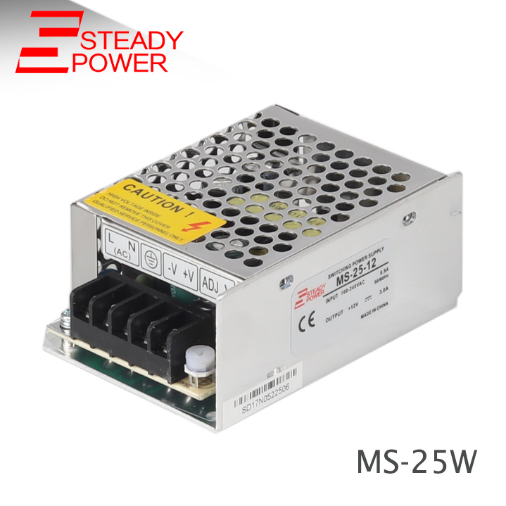 AC 85-264V to DC <font><b>12V</b></font> Transformer 25W Mini Switching Mode 12 Volt <font><b>2</b></font> <font><b>Amp</b></font> <font><b>Power</b></font> <font><b>Supply</b></font> MS-25-12 image