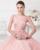 Saia Tutu túnica V Sem Encosto Na Altura Do Joelho-Comprimento A Linha de Apliques de Lantejoulas Rosa Chiffon Vestidos de Formatura 2017 Vestidos Menina Mezuniyet Elbiseleri