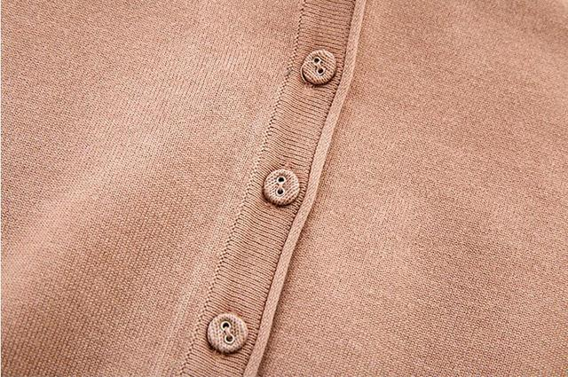 Spring Cardigan Women Korean V Neck Knitted Cardigan Feminino Ladies Long Sleeve Loose Buttons Cardigan Thin Coat Plus Size