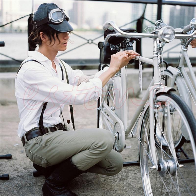 3 LED Retro Bicycle Bike Chrome Visor Bullet Headlamp Headlight Front Tail Ligh