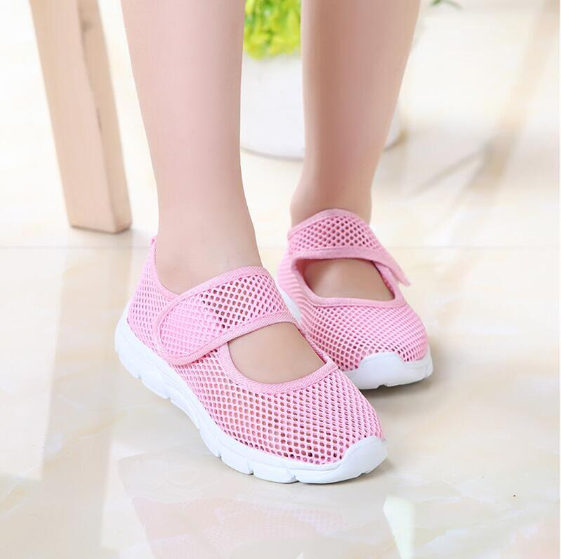 Children Shoes Girls Boys Casual Shoes Summer  Fashion Candy Color Breathable Mesh Kids Sports Shoes Boys Girls Sneakers|Sneakers| |  -