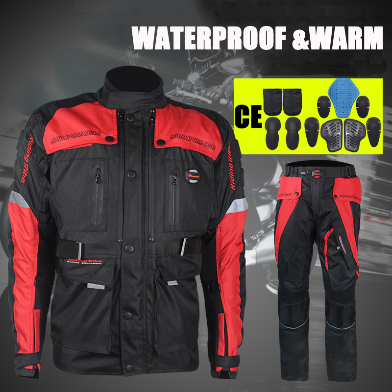 Genuine Riding Tribe Off Road Jacket Motorcycle Racing Jackets Pants Waterproof Motocross Clothes Motorbike Suits Trousers