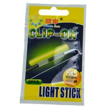 Clip On! Fishing Glow Stick 100Pcs XL 3.3-3.7mm Fluorescent Light stick Dry Type Luminous Wand Tubes Snap On Fishing Rod Top