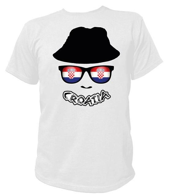 e89541046 T-Shirt FAN SKULL FLAG FAHNE Croatia Kroatien Hrvatska Zagreb Fuball  Soccering Men S T-Shirts Summer Style Fashion Swag Men