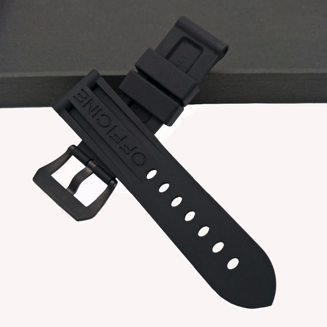 Black Waterproof Rubber Silicone Whatchband Watch Band Strap Belt For Panerai Wa