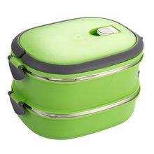 Durable Isolierte Mittagessen Box Edelstahl Lebensmittel Vorratsbehälter Thermo Server Wesentliche Thermische Doppelte Schicht Grün