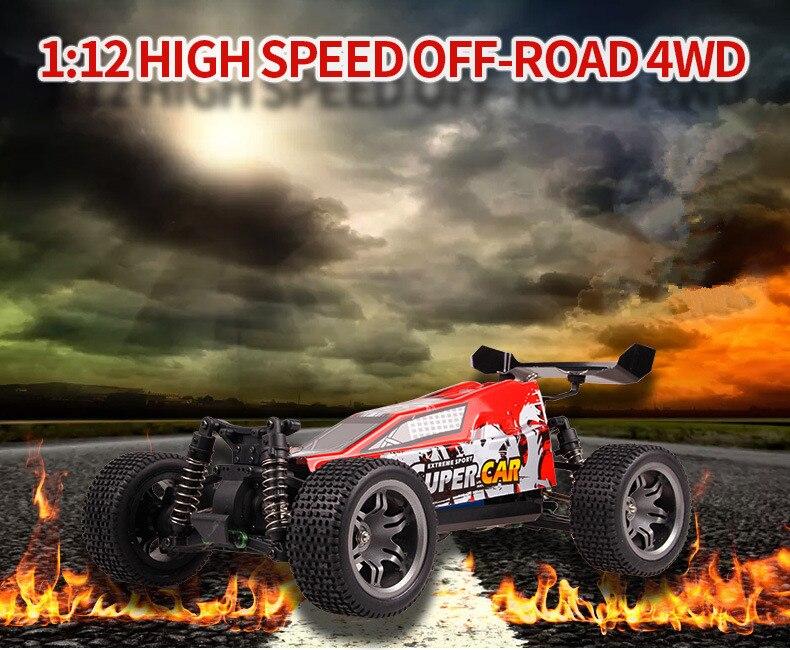 Nouveauté haut de gamme RC voiture électrique tout-terrain 12-401 1:12 échelle 2.4G 4WD haute vitesse 45 km/h véhicule télécommande voiture vs 949A