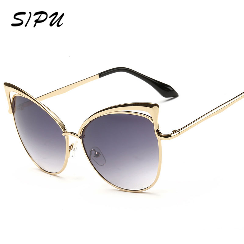 2017 latest fashion sunglasses luxury brand women classic cat eye sun glasses mirror eyewear What style glasses are in fashion 2015