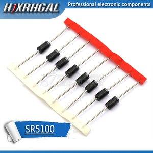 10PCS schottky diode SR5100 5A/ 100V DO -27 SB5100 hjxrhgal