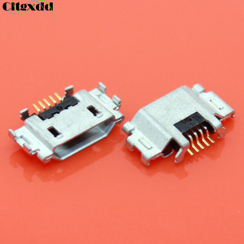Cltgxdd 2pcs Micro USB Connector For Sony Xperia Z2 D6503 D6502 Z3 L55T L50W/T/U L39H LT22 LT26 LT28 Mini USB Jack Charging Port