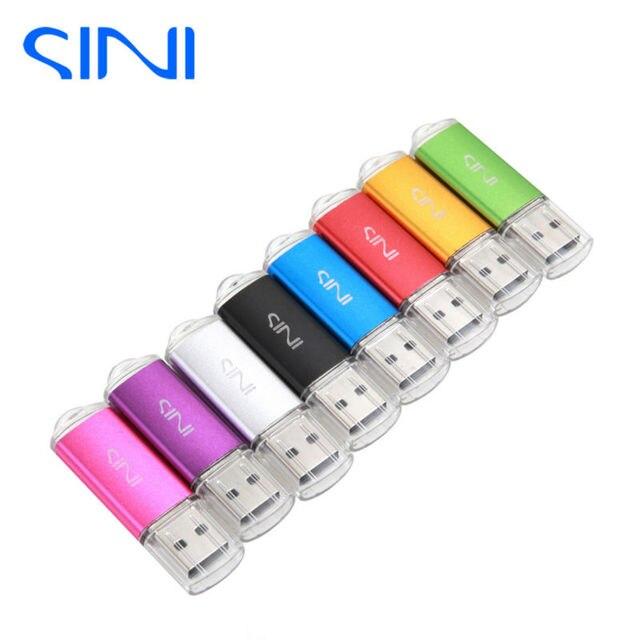 SINI USB Flash Drive Free Ship Pen Drive Really Capacity Pendrive 64/32/16/8/4GB USB Stick Hot Sale usb memory stick for gift