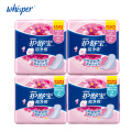 Women Menstrual Pads 100% Soft Cotton With Wings Sanitary Napkin Pads Day Use 240mm 10pcs*2pack+ Heavy Flow 284mm 10pads*2pack