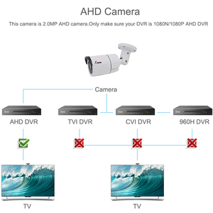 Image 5 - Keeper 2MP AHD Analog High Definition Surveillance Infrared Camera 1080P AHD CCTV Camera Security Outdoor Bullet Cameras