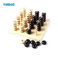 חידת 3D צעצועי עץ לילדים צעצועים חינוכיים שחמט גאדג 'ט ארבע בשורה משחק ילד ההורה ילדי מתנות