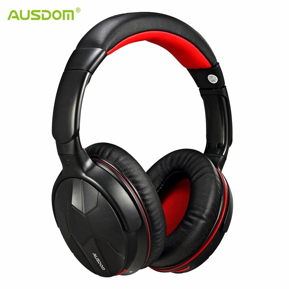 AUSDOM M04s HiFi NFC casque Bluetooth sur l'oreille casque sans fil avec micro fort casque stéréo basse pour iPhone Xiaomi PC