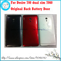For HTC Desire 700 dual sim 7060 Black/White/Red Genuine Original New back rear housing cover case/battery door cover