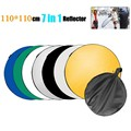 "Lightdow 43"" 110cm 7 in 1 Portable Collapsible Light Round Photography Reflector Studio Multi Disc Reflector"