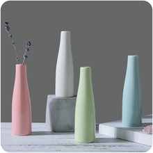 Thick Colorful Ceramic Vase Office Decor Creative Hydroponic Bottle Household Decoration  jardiniere Micro-landscape Vase