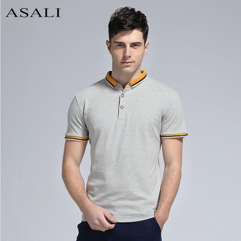 ce89c4576 Men s T shirt Lapel Summer Half Sleeve Cotton Polo Shirt Collar T V Men s  Short Sleeve T shirt Tide Korean Male Tees  MDXZ 6818-in T-Shirts from Men s  ...