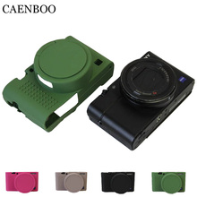 Caenboo RX100 M3 M4 M5 Камера сумка Мягкая силиконовая резина защитный Для тела кожного покрова чехол для Sony RX100 III IV V RX100IV RX100V