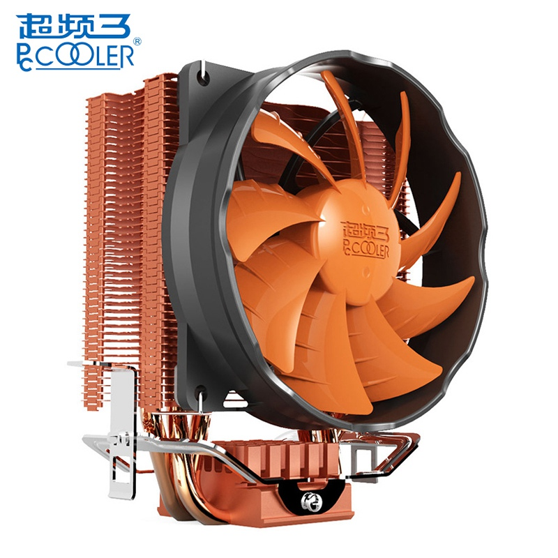 PCCOOLER S90H 3 Copper Heat Pipes 10cm CPU Cooler Cooling Fans Silent 4pin PWM Heat Sink Fans for AMD for Intel LGA775 115X akasa cooling fan 120mm pc cpu cooler 4pin pwm 12v cooling fans 4 copper heatpipe radiator for intel lga775 1136 for amd am2