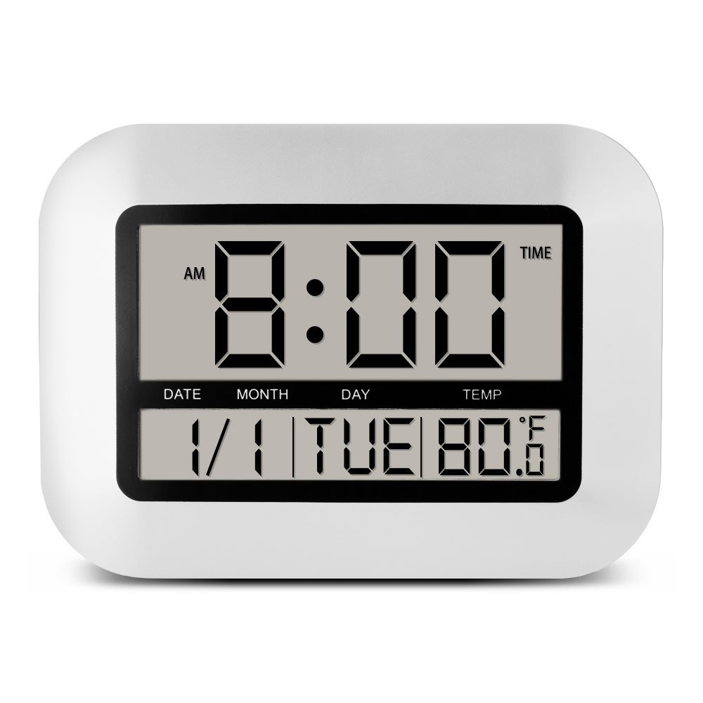 Big Number Radio Controlled Clock Wall Large Lcd Digital Wall Clock