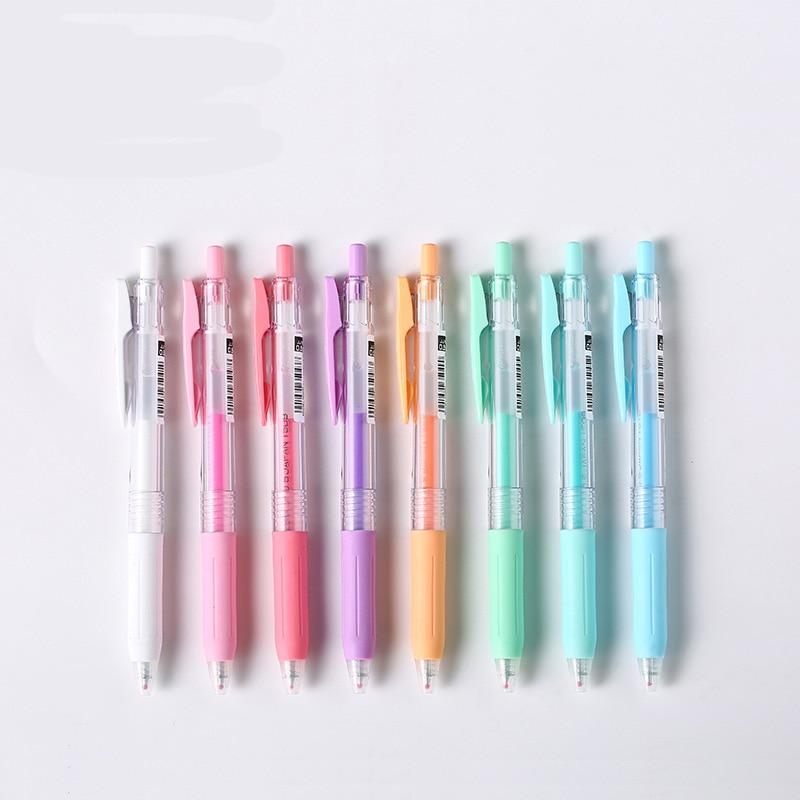 JIANWU 1pcs  Zebra SARASA JJ15  press pens Milk color light color line drawing pen gel pen Limited Edition 0.5mm