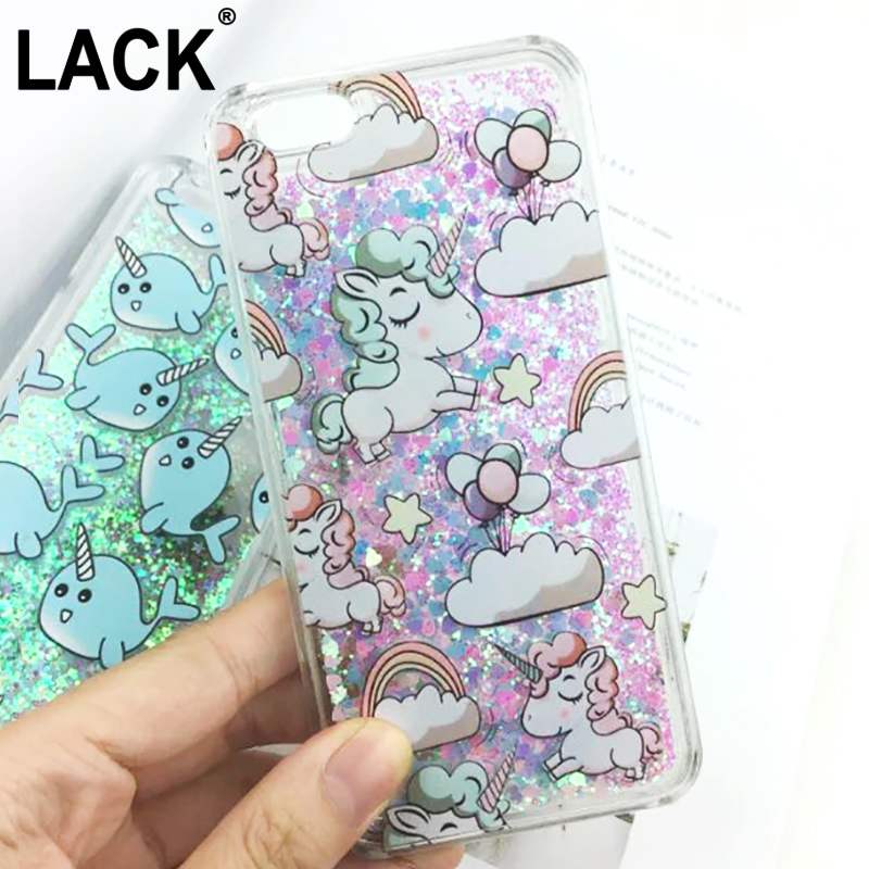 cute cartoon unicorn case for iphone 6 6s dynamic glitter stars dynamic liquid cartoon phone cases cover for iphone 6s 6 plus in half wrapped case from
