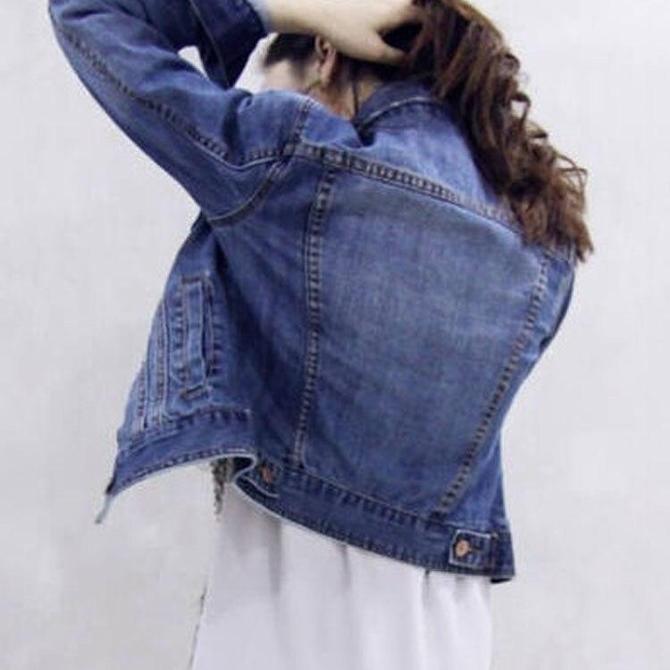 fashion korean style vintage ripped blue jean jackets. Black Bedroom Furniture Sets. Home Design Ideas