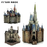 Finger Rock Metal 3D Puzzles Cartoon Models Princess Castle Mickey Sky Wheel Cutting Laser Jigsaws DIY