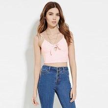 New Brand Sexyev Sleeless Blouse Casual Tank Women Summer Vest Top Blouse Sleeveless Shirt Short Bow V Neck Fashion Shirts