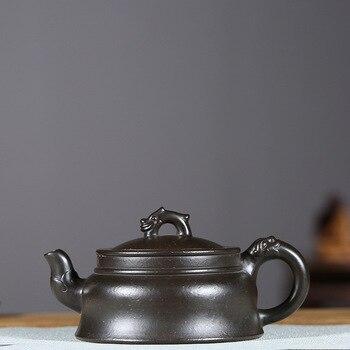 Pottery Teapot Famous Kettle Full Manual Make Raw Ore Azure Zhu Ni Long Xing The World Kettle Kungfu Online Teapot Tea Set