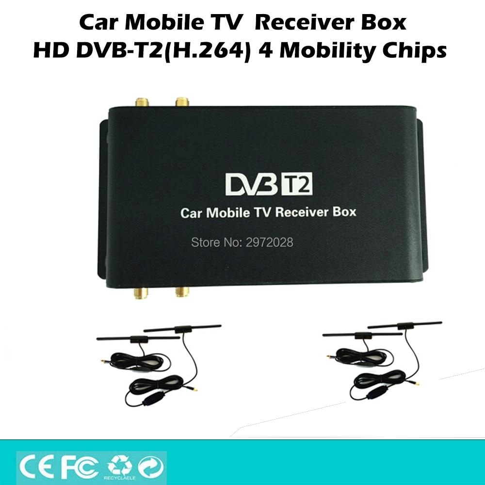 HD Car Mobile Digital TV Receiver Mobile Car DVB T2 USB HDMI MPEG4 MPEG2 Digital TV