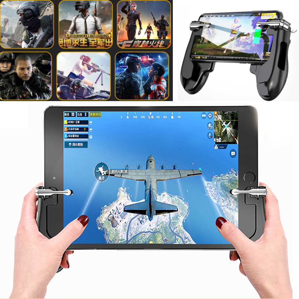 Triggers For Cell Phone dzhostik Pubg Mobile Shooting Game Gamepad Controller L1 R1 Trigger Fire Button Gaming Joystick for ipad in Joysticks from Consumer Electronics