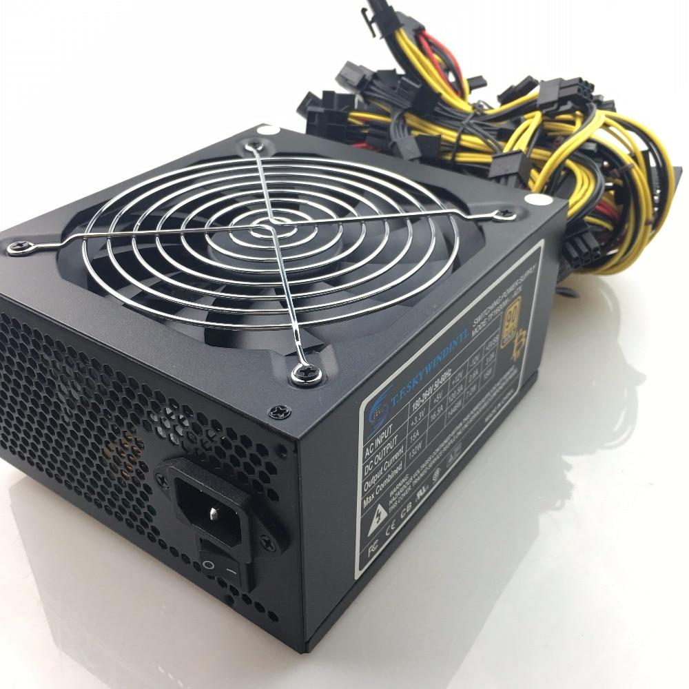 T.F.SKYWINDINTL 1600W Power Supply PSU 24pin ethereum 1600w PSU for gtx 960 pico psu 1600W Mining Machine Power Supply PC power ледокол 010 1600w